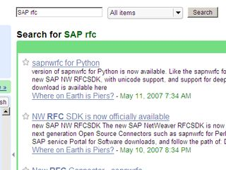 New Google Reader Search facility